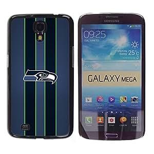 iKiki Tech / Estuche rígido - Seahawk Fútbol - Samsung Galaxy Mega 6.3