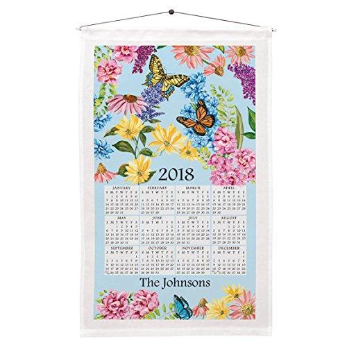 Miles Kimball Butterfly Garden Calendar Towel