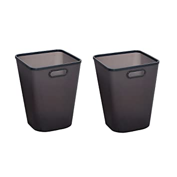 Trash Can Set Of 2, XSHION Plastic Waste Paper Basket For Office/ Recycle  Bins