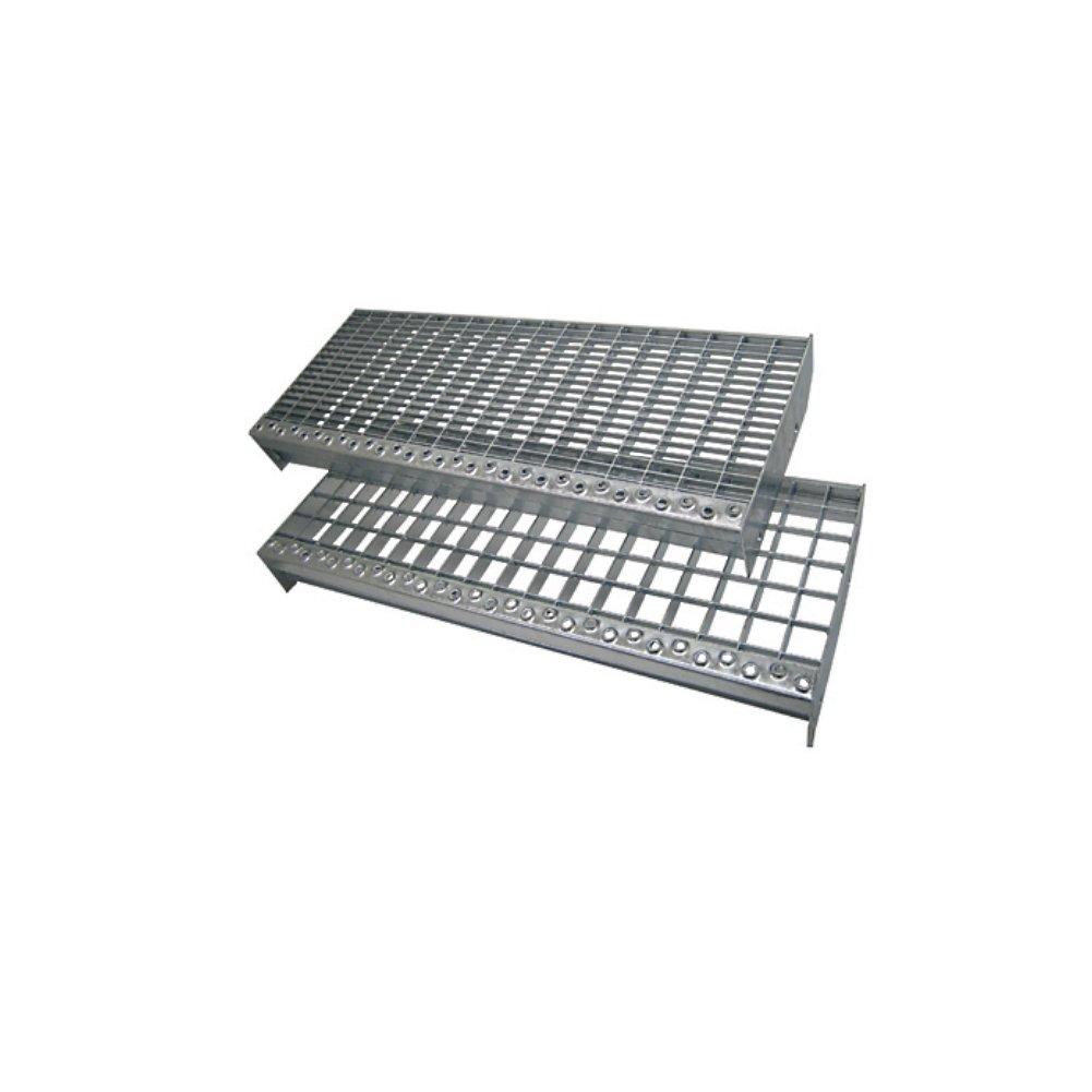 Maschenweite 30 x 30 Gitterroststufe 1000 x 240mm rutschhemmende Sicherheitsantrittskante Tragstab 20//1,5mm