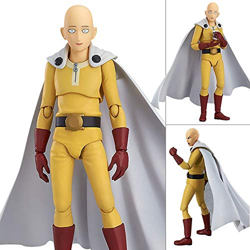 - One Punch Man Saitama Hero Teacher Action Figure,5.5 inch Figma-PVC Collectable Model Toy