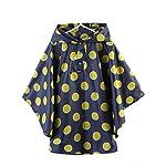 Kelly Casual Childrens Hooded Rain Poncho Windbreak Waterproof Lightweight Polka Dot Rain Coat