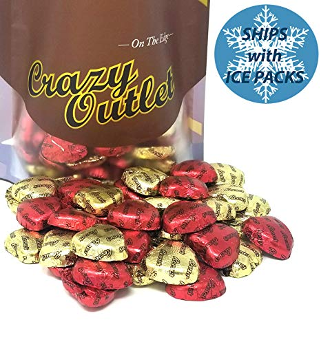 - CrazyOutlet Pack - Reese's Milk Chocolate Peanut Butter Hearts Candy, Gold and Red Foils, Wedding Day Candy, Bulk Pack, 2 Lbs