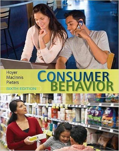 Consumer Behavior 6th Edition