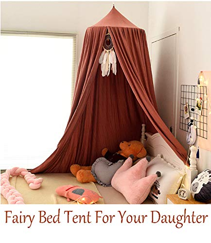 Extra Large Kids Bed Canopy with Princess Cute Dome Nursery Canopy for Girls Bed Canopy for Girls Room Christmas Decor Kids Bed Tent Boys Reading Canopy Hanging Canopy Playing Canopy Crib Canopy