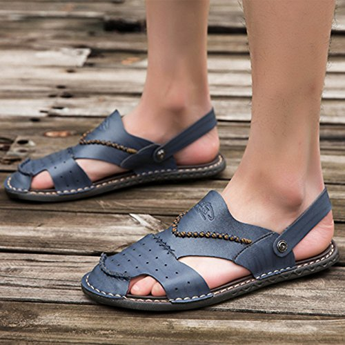 Pantofole Scarpe Toe Atletico Blue1 Scarpe Sandalo Chiusa Da on Slip Open Spiaggia In Uomo Da Da Sandali Trekking Infradito Da Piscina Punta Pelle n1IZBUW