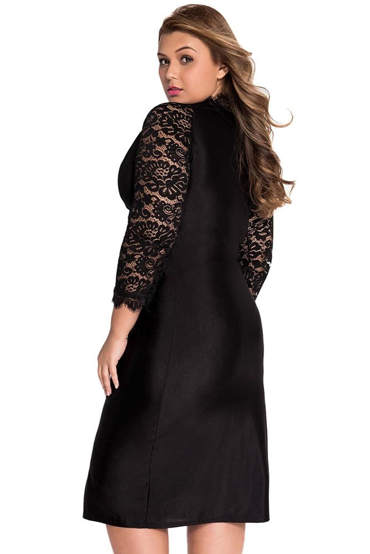 ILFtrend Große Größen V-Ausschnitt Kleid Partykleider Cocktailkleid ...