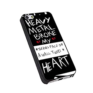 fall out boy heavy metal broke my heart for Iphone Case (iPhone 6 plus/6S plus black)