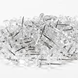 Yalis Push Pins 600 Count, Standard Clear Thumb