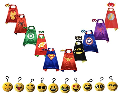 Ranavy Superhero Capes And Masks Bulk Set Dress Up for Kids - Children DIY Birthday Party Costumes (10 PCS(27