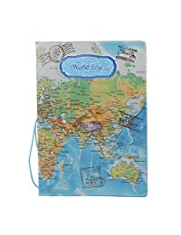 MagiDeal Blue World Trip Passport Card Protector PVC Leather Holder for UK Passport