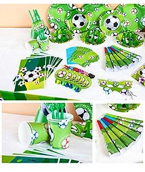 Jiaxingo Juego de Cubiertos de Fiesta de fútbol, decoración ...