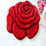 TOYM 3D Stereo Continental Rose Style Dwink Living Room Fountain Bed Bedside Pads Yoga Basket Computer Cushions ( Size : 120120cm )