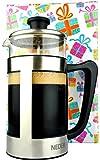 French Press Coffee Espresso Tea Maker 34 oz - Gift Box -...