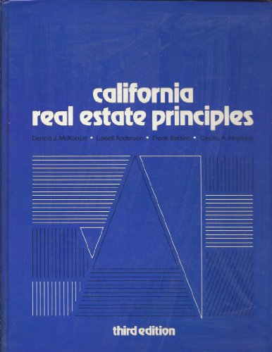 California real estate principles (John Wiley series in California real estate)