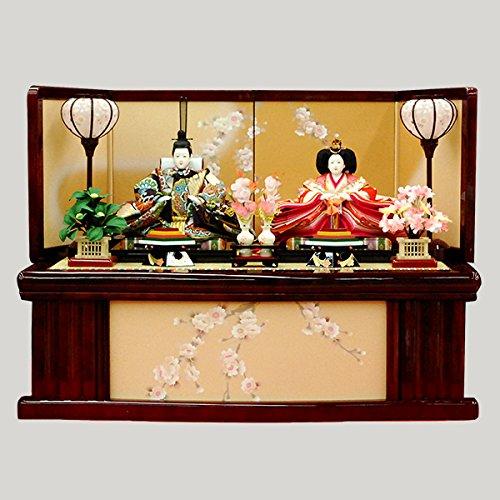 【雛人形】【ひな人形】 【収納飾り】【収納式】 親王飾り 平飾り コンパクト 43a115ori   B00PRK591I