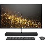 HP ENVY 27-inch All-in-One Computer, Intel Core i7-7700T, NVIDIA GeForce GTX 950M, 16GB RAM, 1TB hard drive, 128GB SSD, Windows 10 (27-b110, Ash Silver)