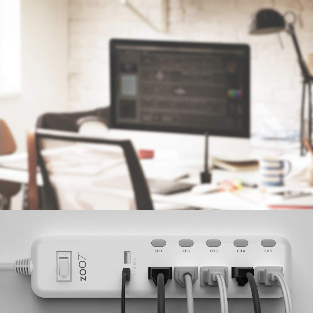 Zooz Z-Wave Plus S2 Power Strip ZEN20 VER. 2.0 with Energy Monitoring and 2 USB Ports, Works with Vera, Wink, SmartThings by ZOOZ (Image #6)