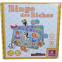 Brinquedo Educativo Bingo dos Bichos 61 Peças 4 Cartelas