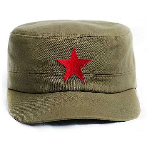 Che Guevara Store Military Hat Army Green Adjustable Embroidered Red Star -