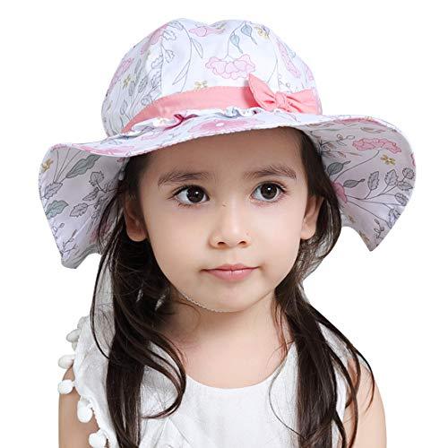 - Kid's Sun Protection Wide Brim Bucket Hat for Outdoor Packable Fishing Cap Adjustable Beach Hats Lightweight Boonie Hats Cotton Safari Hats 6M 12M