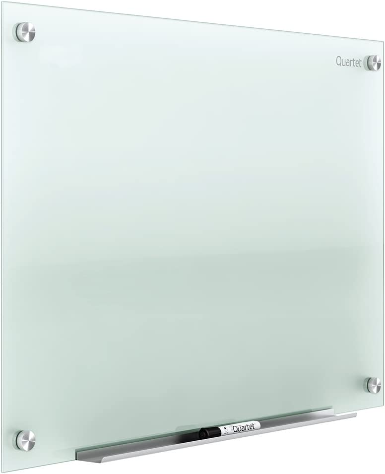 Quartet Glass Whiteboard, Non-Magnetic Dry Erase White Board, 2' x 1.5', Frosted Surface, Infinity (G2418F)