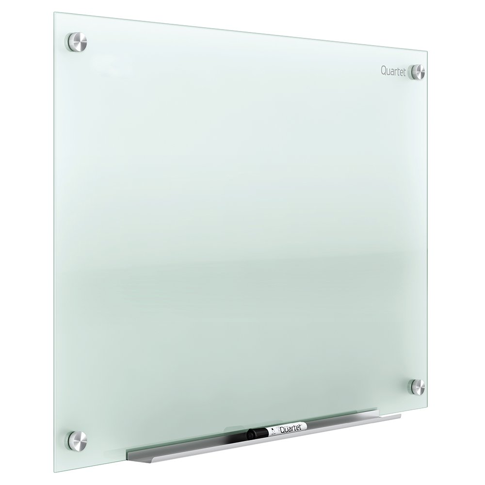 Quartet Glass Dry Erase Board, Non-Magnetic Whiteboard, 2' x 1.5' White Board, Frosted Surface, Infinity (G2418F)
