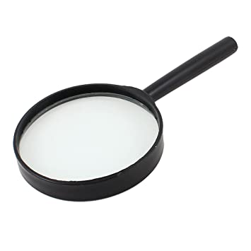 Image Unavailable. Image not available for. Color  Plastic Handle 5X 90mm  Magnifier Magnifying Glass Black Clear c845dbbfa2116