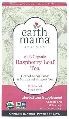 Earth Mama Organic Raspberry Leaf Tea Bags for Labor Tonic and Menstrual Support, (Raspberry Leaf Tea)