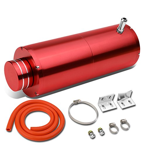 Universal Anodized Aluminum Coolant Recovery Bottle Tank Reservoir W/Removable Cap (Red) ()