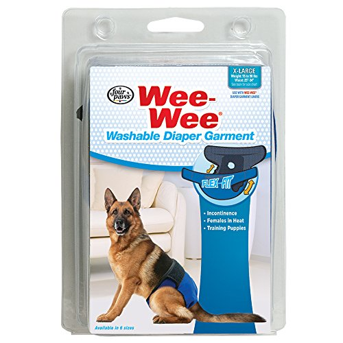 Four Paws Wee-Wee Washable Dog Diaper Garment, X-Large