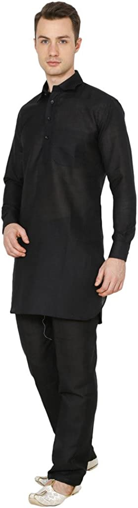 Royal Kurta Mens Luxury Cotton Pathani Kurta Pyjama Set