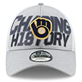 New Era Milwaukee Brewers 2018 Division Series Winner Locker Room 9FORTY Adjustable Hat – Gray