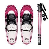 ALPS Adult All Terrian Snowshoes + Pair Anti-Shock Adjustable Snowshoeing Pole + Free Carrying Tote Bag
