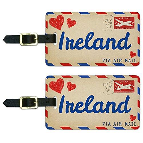 Postcard Ireland Luggage Suitcase Carry