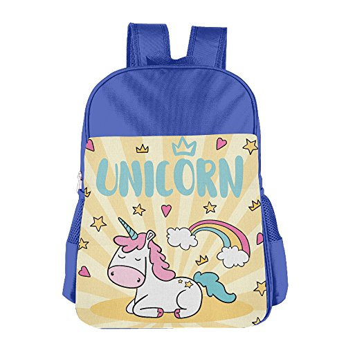 Kids Unicorn Back To School Backpacks Students Bookbag Lunch Bag Tote Snack Bags With Water Bottle Pockets