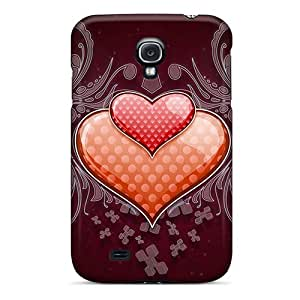 Fashionable Style Case Cover Skin For Galaxy S4- Heart Love Vector Wide