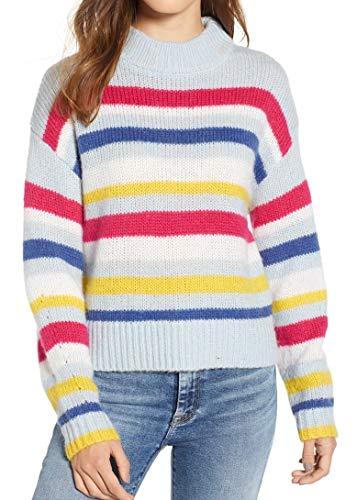 Rebecca Minkoff Women's Brittany Sweater, Pale Blue/Multi, Small