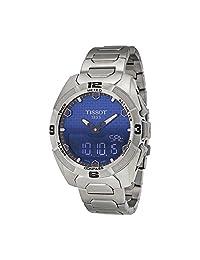 Tissot T-Touch Expert Solar Blue Dial Titanium Mens Watch T0914204404100