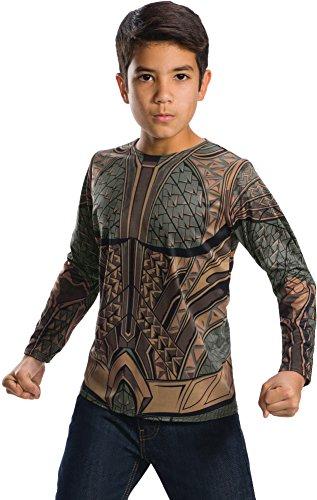 Rubie's Costume Boys Justice League Aquaman Top Costume, Medium, Multicolor]()