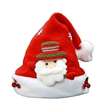 Dyewd Adornos Navideños Sombrero Infantil De Navidad De