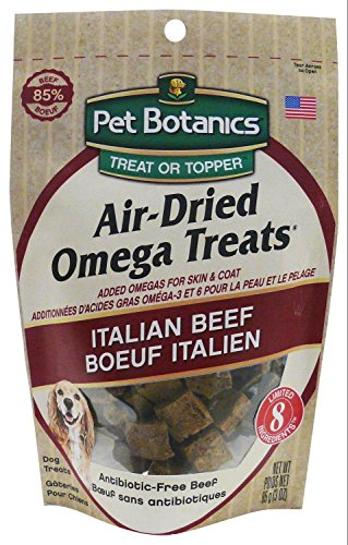 Omega Air - Pet Botanics Air-Dried Omega Dog Treats - Italian Beef, 3 oz