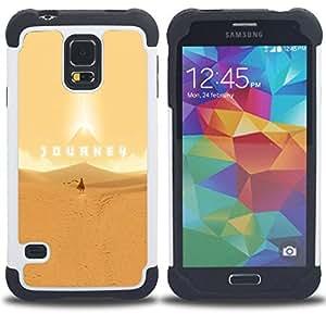"""SAMSUNG Galaxy S5 V / i9600 / SM-G900 - 3 en 1 impreso colorido de Altas Prestaciones PC Funda chaqueta Negro cubierta gel silicona suave (Roaring Lion B & W"""")"""