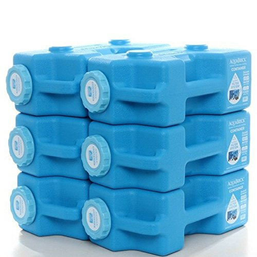 Emergency Water & Food Storage Container Portable Stack (6 Pack Container) by SAGAN AquaDrum