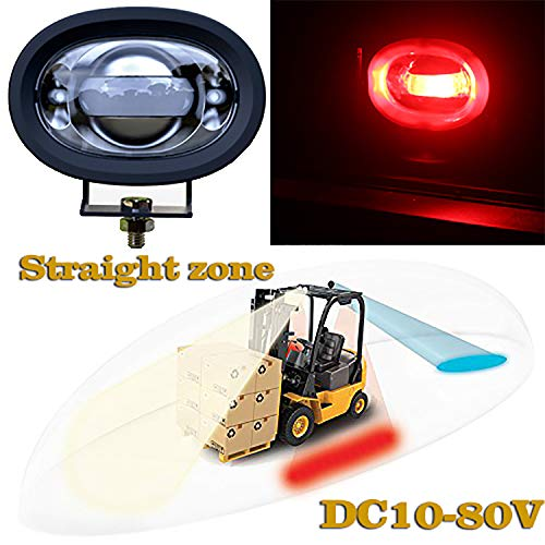 Fuguang LED Straight line Forklift Area Safety Light 8W Cree Red LED Work light Zone Risk Danger Area Warning Light Warehouse Forklift Truck Security Indicator (8W Straight line, Red)