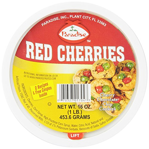 Vibrant Red Leather - Paradise Cherries Whole, Red, 16 Ounce
