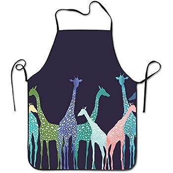 Giraffe Jungle Scene Tie Back Apron