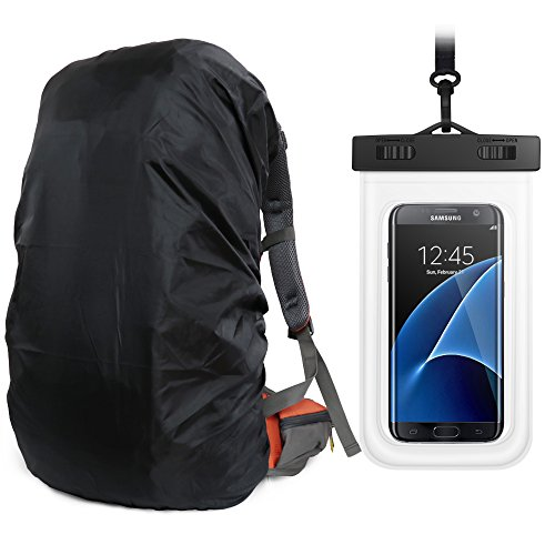 Orange Sport Ultralight Backpack Rain Cover with Pu Stored Bag and Cellphone Waterproof Case for Camping, Hiking, Cycling for iPhone 6S/6 - Rain Backpack