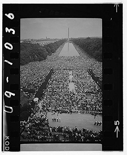 Photo: Civil Rights March on Washington,D.C.,The Mall,Lincoln Memorial,Reflecting - Memorial Map Mall