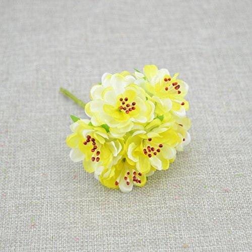 Yellow Silk Stamen Daisy Artificial Flowers handmade flowers Wedding Wreath Fake Flowers (Japan China Silver Wreath)